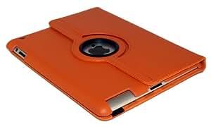 iPad 3 & 2 Schutz Hülle 360° +SchutzFolie + Stift Case Smart Cover Tasche (ORANGE)