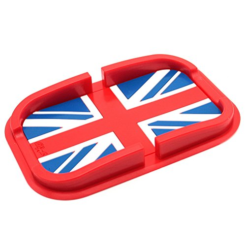 Waterwood Car Dashboard Sticky Pad Anti-Slip Non-Slip Mat with Holder and Groove, British Flag Pattern(Red as main color), for GPS,PDA ,Cellphone and So on (British Car Mats compare prices)