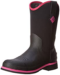 MuckBoots Women\'s Ryder Mid Boot,Black/Hot Pink,8 M US