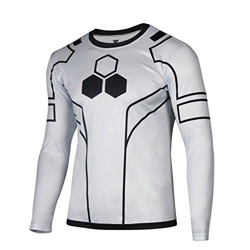 Afoxsos Men s Long Sleeves Crewneck Super Hero The Flash T-Shirt ... ac0565b3105