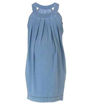 Maternity Denim Round Neck Dress