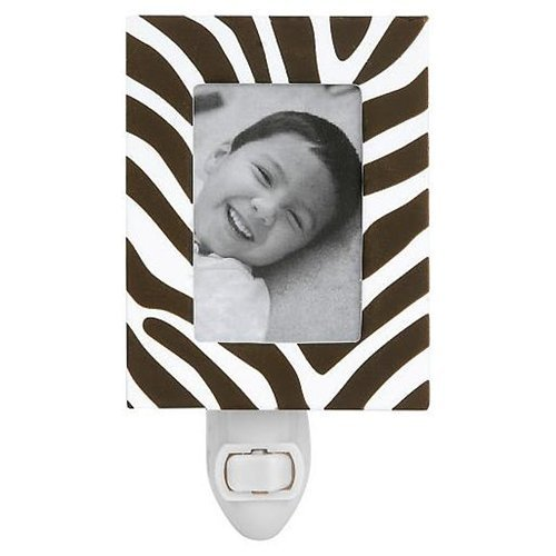 Little Boutique Decorative Night Light Zebra Frame