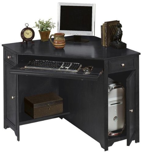 Black corner desk cheap oxford 50 w corner computer desk 30 hx50 w black - Cheap black desks ...