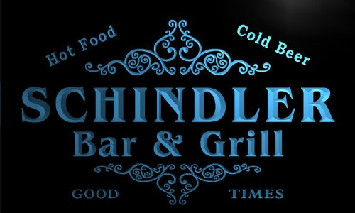 u39820-b-schindler-family-name-bar-grill-home-brew-beer-neon-sign-barlicht-neonlicht-lichtwerbung