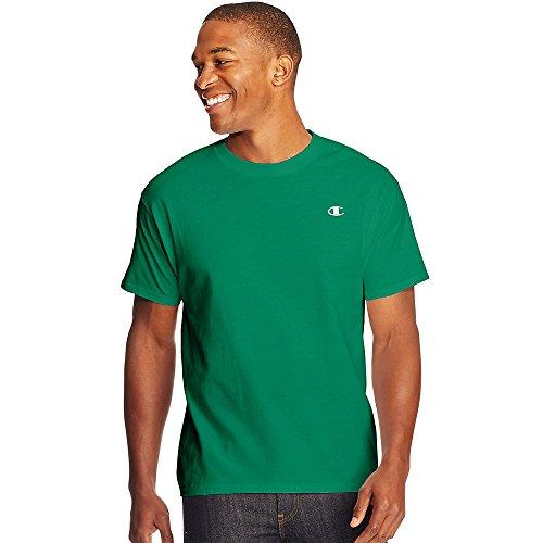 Champion Cotton Jersey Men's T Shirt_Kelly Green_L