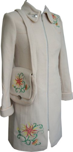 Buy High Quality Wool Coat – Ladies Winter Coat with Embroidery Detail