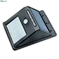 MUMENG 1X Sensor LED Solar Powered LED Spotlights Solar outdoor wall lamp Waterproof IP65 weatherproof motion detector lamps (with 900 mAh battery, 3 m sensor range, over 12 hours duration) (1.5W) from Elinkume