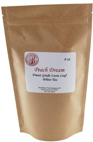 Boston Tea Finest Grade Loose Peach Dream White Tea, 8-Ounce Bag