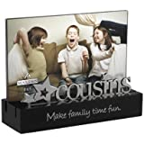 Malden Cousins Desktop Expressions Frame with Silver Word Attachment, 4 by 6-Inch