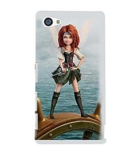 Printvisa Sailor Girl Back Case Cover for Sony Xperia Z5 Compact::Sony Xperia Z5 Mini