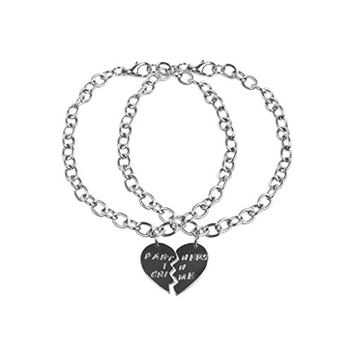 lux-accessori-gunmetal-partners-in-crime-bff-best-friends-cuore-charm-bracciali-2-pc
