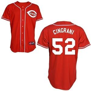 Tony Cingrani Cincinnati Reds Alternate Red Replica Jersey by Majestic by Majestic