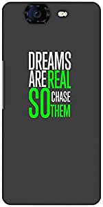 Snoogg Chase Them Designer Protective Back Case Cover For Micromax Canvas Kni...