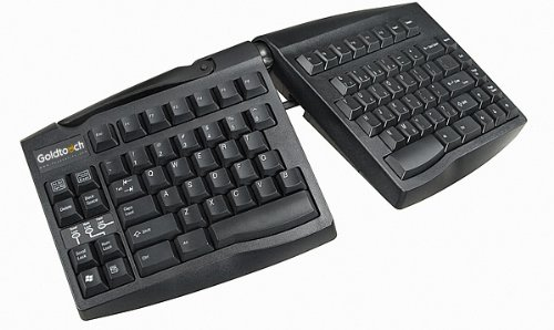 Goldtouch - Keyboard - PS/2, USB - ergonomic - black - UK QWERTY [PC]