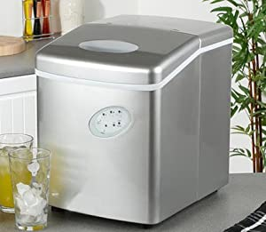 Ice Maker Machine - Counter Top Ice Machine - New Compact Model - No Plumbing Required - 15kg Ice In 24 Hours by ThinkGizmos