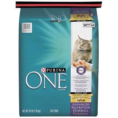 Image of Purina One Cat Hairball Formula Cat Food, 16-Pound