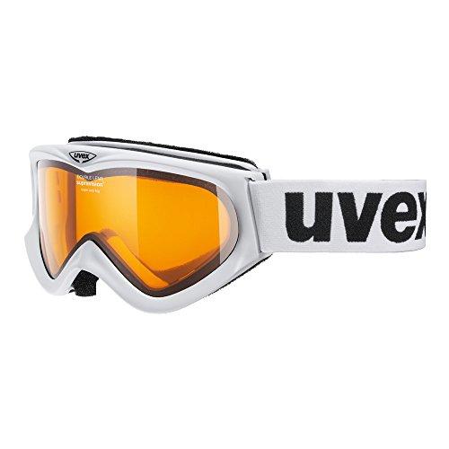 UVEX S5501180129 Skibrille F1 white / double lens zyl. Goldlite