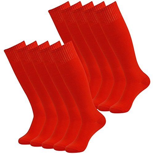 3street Women/'s Men/'s Over Knee High Solid Athletic Soccer Football Workout Tube Socks for Christmas Red 10-Pairs,One Size,001#10-Pairs Red1,One Size (Red Football Socks compare prices)