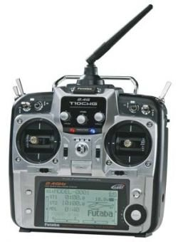 Futaba 10CHG 2.4GHz R6014HS Integrated Heli Mode 1