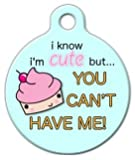 Cute as a Cupcake - Custom Pet ID Tag for Dogs - Dog Tag Art - LARGE - 1.25""