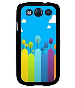 printtech Colored Line Trees Abstract Back Case Cover for Samsung Galaxy S3::Samsung Galaxy S3 i9300