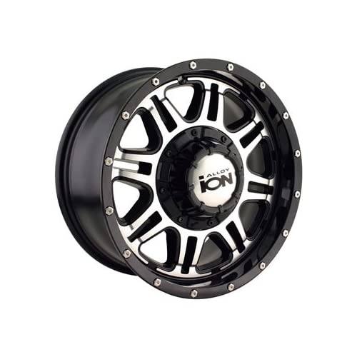 Alloy Ion Style 186 17x8 Black Wheel / Rim 5x5 & 5x135 with a 10mm Offset and a 87.00 Hub Bore. Partnumber 186 7853B