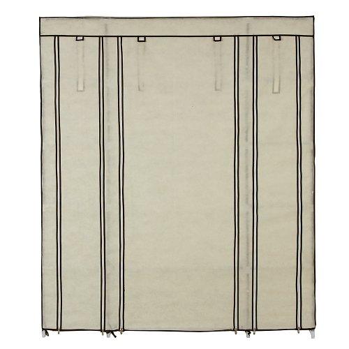Songmics armadio cabina guardaroba appendiabiti in acciaio tessuto 175 x 150 x 45cm lsf03m - Appendiabiti per cabina armadio ...