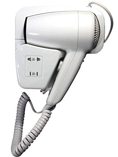 Phone Phon asciugacapelli verticale da parete 1300 watt versione hotel due velocità aria calda - Bianco con presa