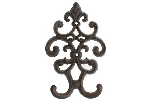 """Cast Iron Vintage Double Wall Hook 