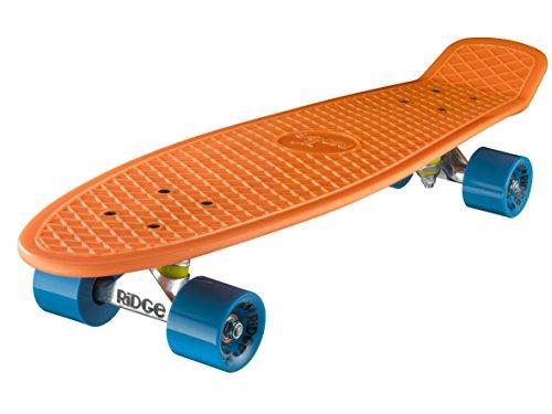 "Ridge Retro 27 Skateboard complet Orange/Bleu 27"" x 7,5"""