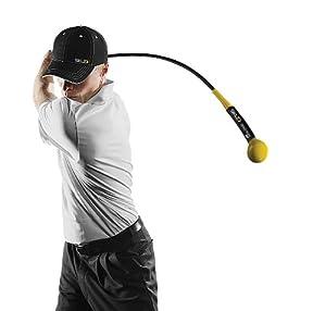 SKLZ Golftrainingsprodukt Golf Gold Flex - Kraft Und Timing Trainer, schwarz-gelb