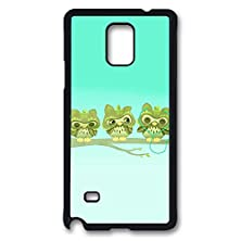 buy Samsung Galaxy Note 4 Case, Note 4 Case - Scratch-Resistant Black Hard Case For Galaxy Note 4 Case Music Headphones Branch Cartoon Owls Slim Fit Hard Case For Samsung Galaxy Note 4