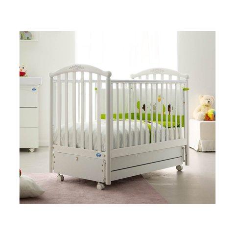 Babybett Kinderbett aus Holz Love Doimo Cityline Bianco-Ciclamino