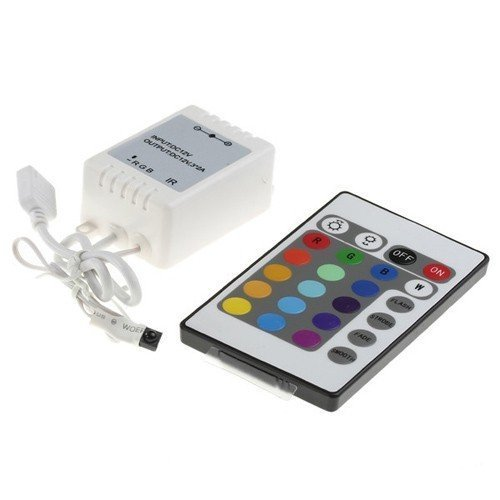 Etopled(Tm) 24 Button Key Wireless Rgb Led Light 12V Ir Remote Controller Dimmer For 5050 3528 Led Strip
