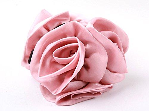 ヘアクリップ 薔薇 花 6輪 ピンク
