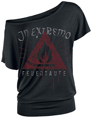 In Extremo Feuertaufe Maglia donna nero XL