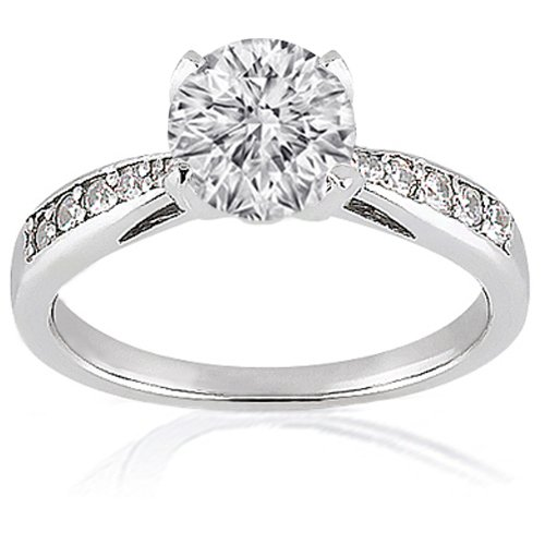 1.40 Ct Round Diamond Engagement Ring CUT:VERY 