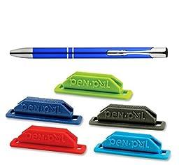 Pen Pal Pen Holder, 5-Pack, Includes a Bonus Plexon Ballpoint Pen