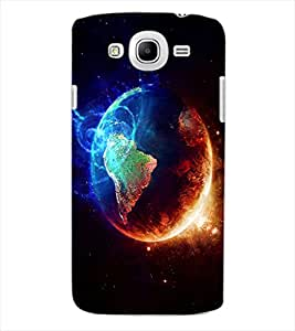 ColourCraft Fire and Ice Galaxy Design Back Case Cover for SAMSUNG GALAXY MEGA 5.8 I9150