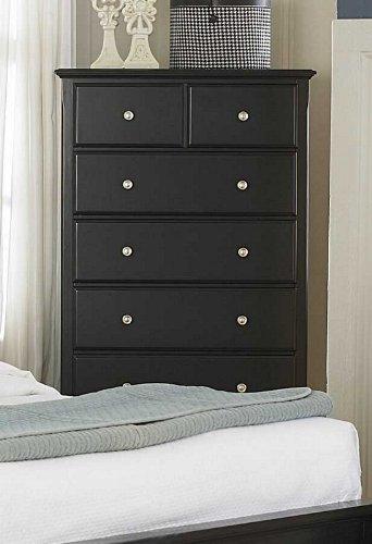 Distressed Black Dresser front-931927