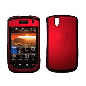 Premium Red Rubberized Snap-On Cover Hard Case Cell Phone Protector for Blackberry Bold 9650 [Accessory Export Brand Packaging] by Accessory Export, LLC