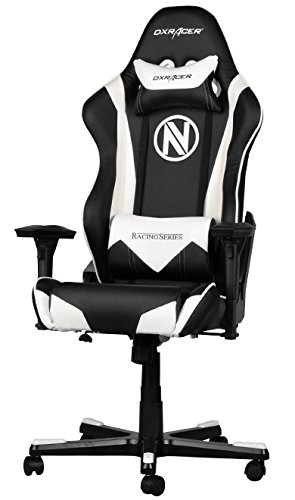 DX Racer Racing Series Gaming Chair - Black and White - Team EnVyUs