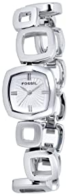 Fossil Womens ES1869 Core Square Link Stainless Steel Silver
