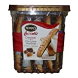 NONNIS BISCOTTI TRADITIONAL ASSORTMENT 25 COUNT HAZELNUT AND CIOCCOLATI chocolate cocoa butter almonds walnuts & more!