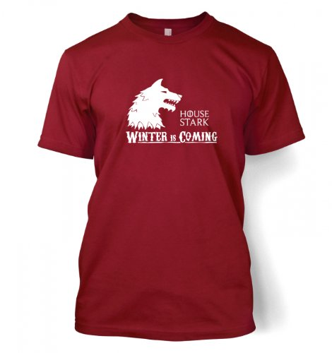 Something Geeky PP – House Stark T-shirt – Inspired By Game Of Thrones  Cardinal Red