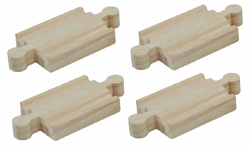 41drFzHVnNL Cheap  Plan Toys Wooden Train Track Adapter B 2.0 (Pack of 4)