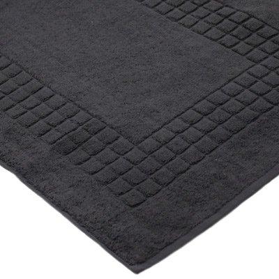 supreme tappeto da bagno 100 cotone egiziano antracite l 80 cm x l 50 cm. Black Bedroom Furniture Sets. Home Design Ideas