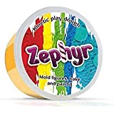 Zephyr 00-00000740 Kinetic Play-Dough Kinetic plasticise Modelling Clay Polymer Clay Could be Baked, Orange (Color: Orange)