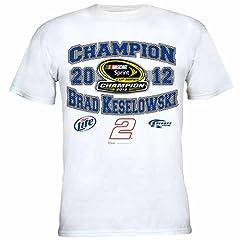 Buy #2 Brad Keselowski 2012 Nascar Sprint Cup Champ 1 Spot Tee Xxxl Zch1219417 by Brickels