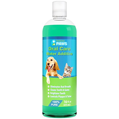 Fresh Breath Water Additive for Dogs and Cats - For Clean Teeth, Healthy Gums and Oral Care - 16oz